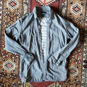 Banana Republic men's grey flannel Camden shirt